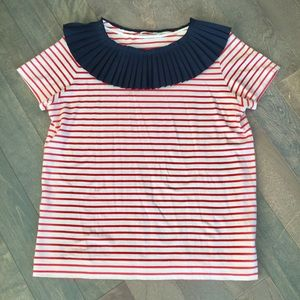 COS Striped Shirt with Pleated Collar